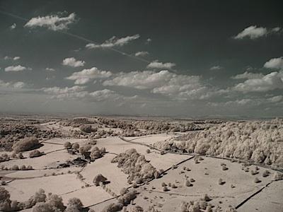 kite aerial IR image